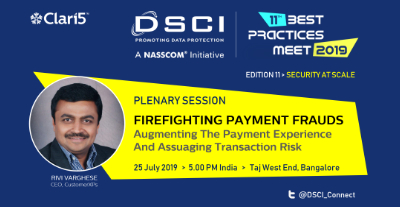 DSCI Best Practices Meet 2019: Security at Scale
