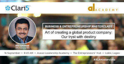 Clari5 at ALA Business & Entrepreneurship Masterclass